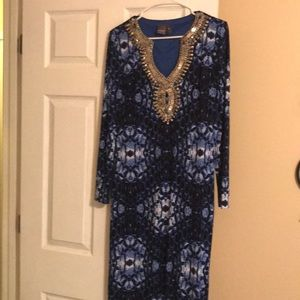 Looks New XS / S Muse Blue Water Maxi Dress 👗